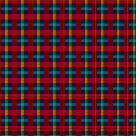 Gifts From Santa PLAID MULTI Fabric 27738-X
