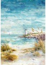 Hoffman Fabrics Shoreline Stories Seaside S4798-484 Panel