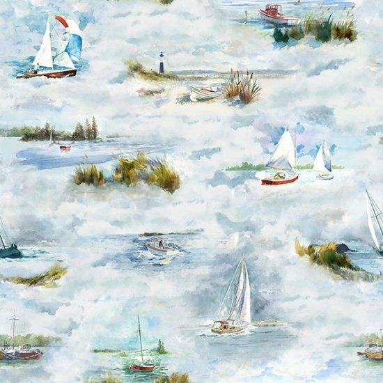 Hoffman Fabrics Shoreline Stories Sea Breeze S4799-207