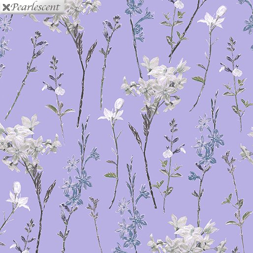 Shimmery Wild Flowers Purple 7924P-66 Violet Twilight Collection By Benartex Fabrics