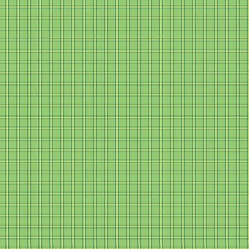 Contempo Warp & Weft Premium Yarn Dyes Tiny Plaid Green Fabric