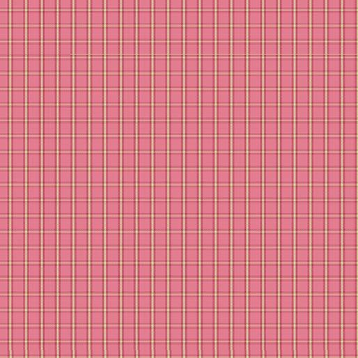 Contempo Warp & Weft Premium Yarn Dyes Tiny Plaid Pink Fabric