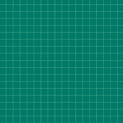 Contempo Warp & Weft Premium Yarn Dyes Windowpane Green Fabric