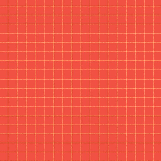 Contempo Warp & Weft Premium Yarn Dyes Windowpane Orange/Red Fabric 6604Y-10