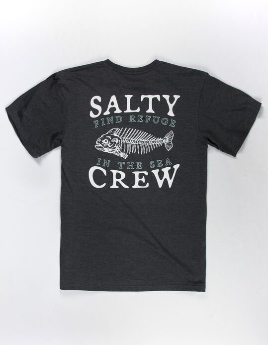 SALTY CREW - BONEYARD SS TEE CHARCOAL