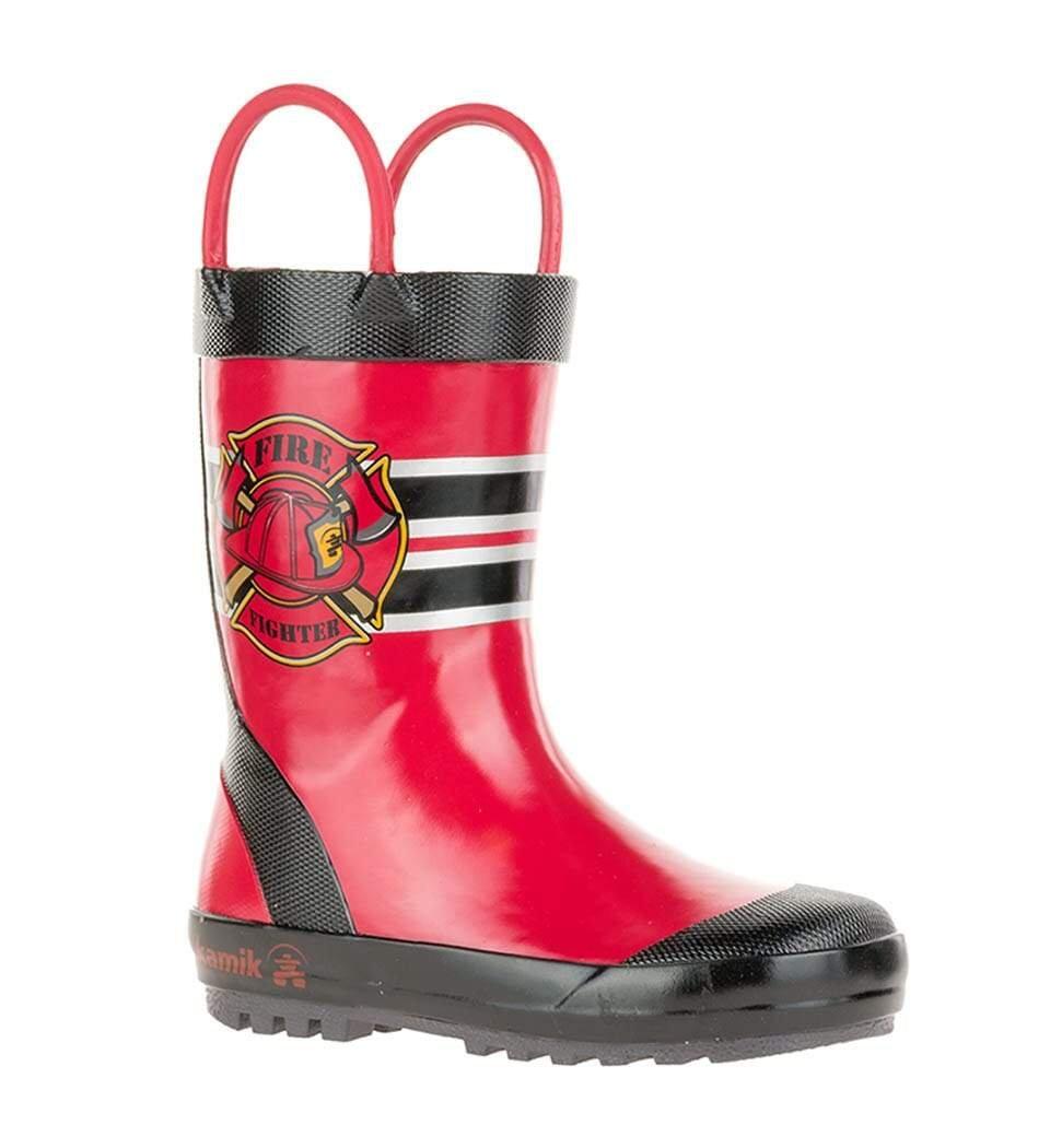KAMIK FIREMAN RED Kids Rainboot