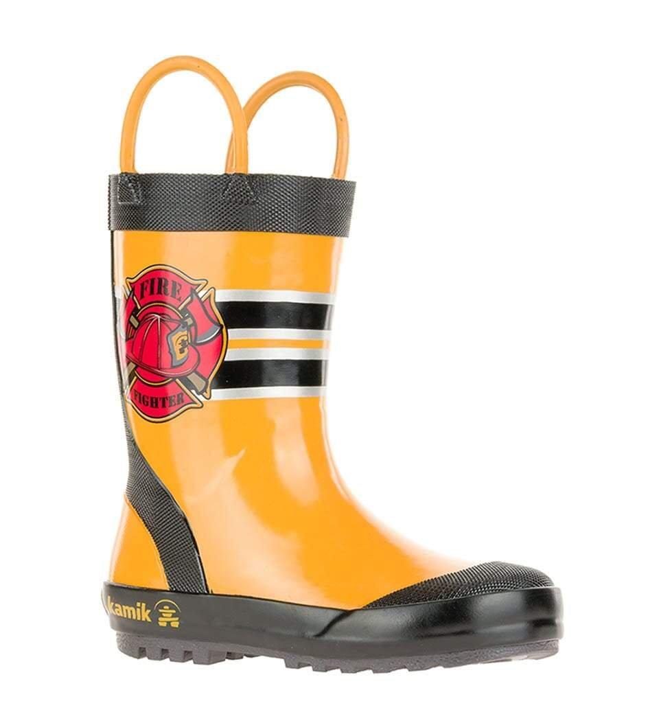 KAMIK FIREMAN Yellow Kids Rainboot