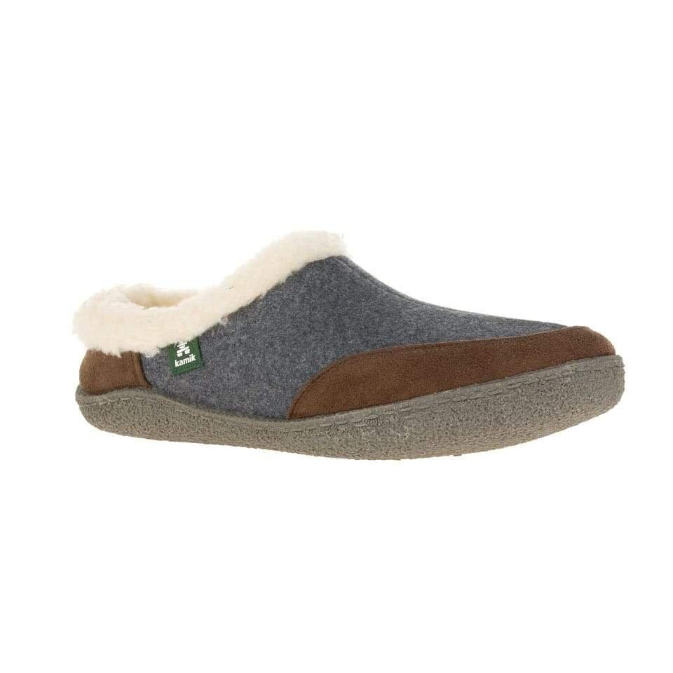 KAMIK CABIN mens slippers drKbrown/grey