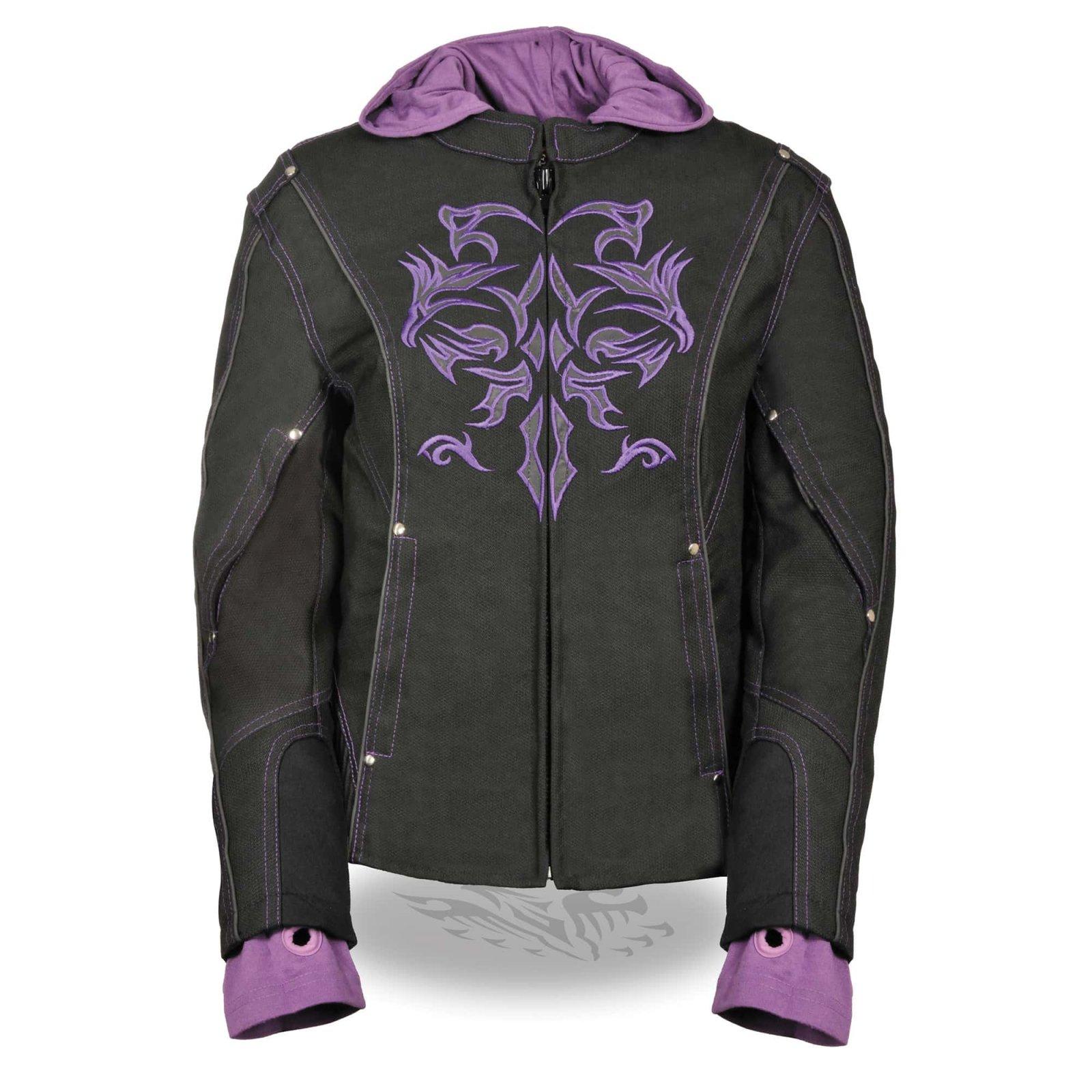 Women's 3/4 Jacket w/ Reflective Tribal Detail Textile