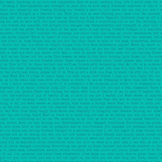 Sun Print Text -Jade