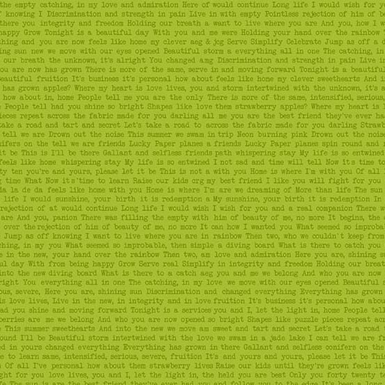 Sun Print Text -Conifer