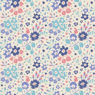 Flower Confetti -Blue