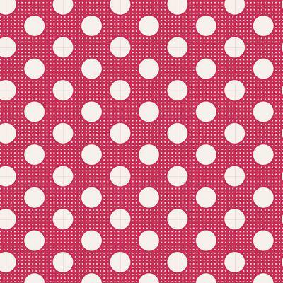 Tilda Dots -Red