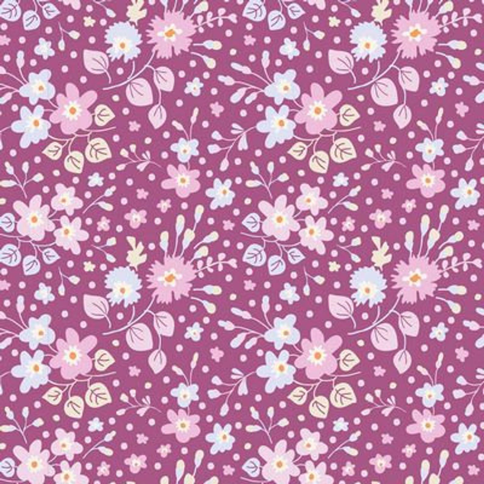 Flower Confetti -Plum