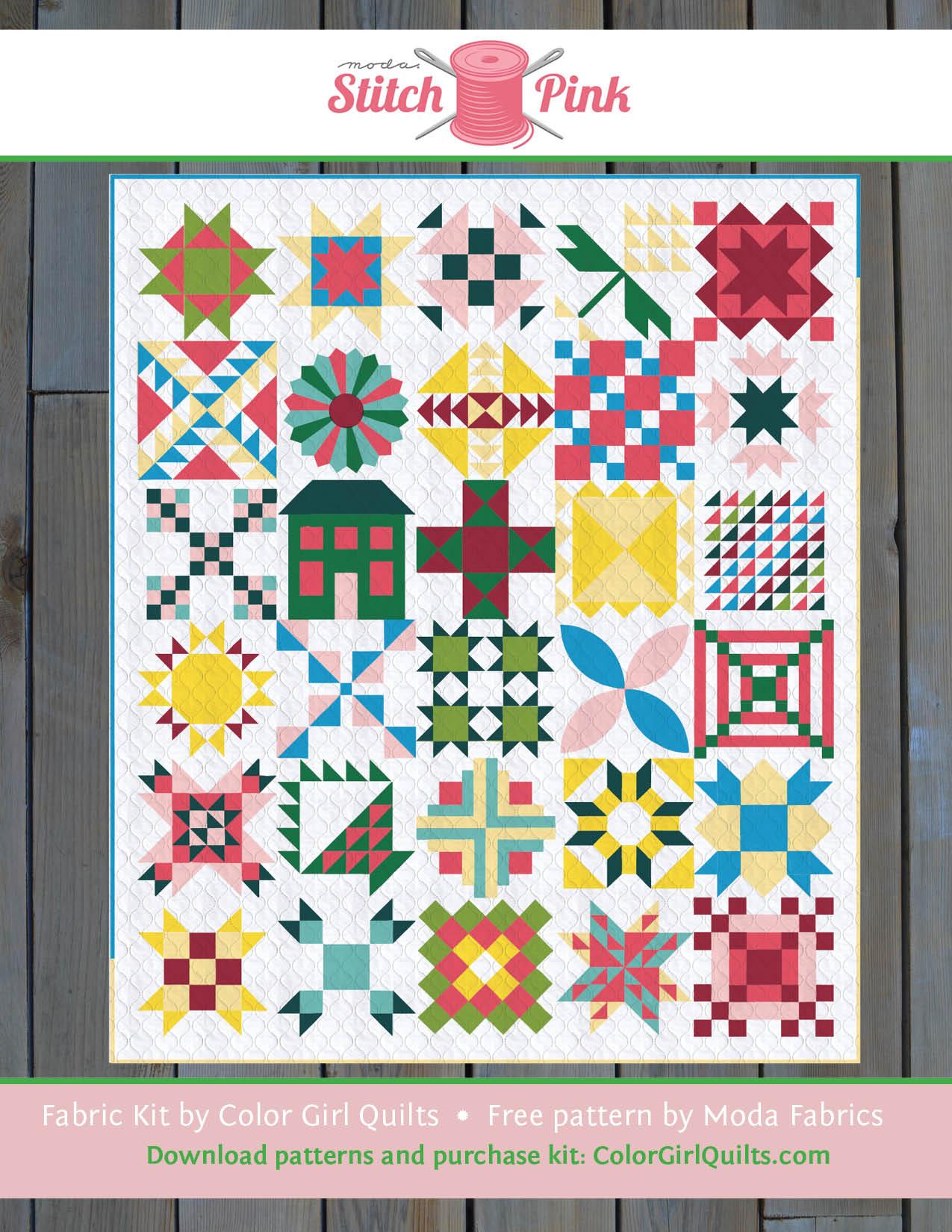 Stitch Sampler Quilt Kit