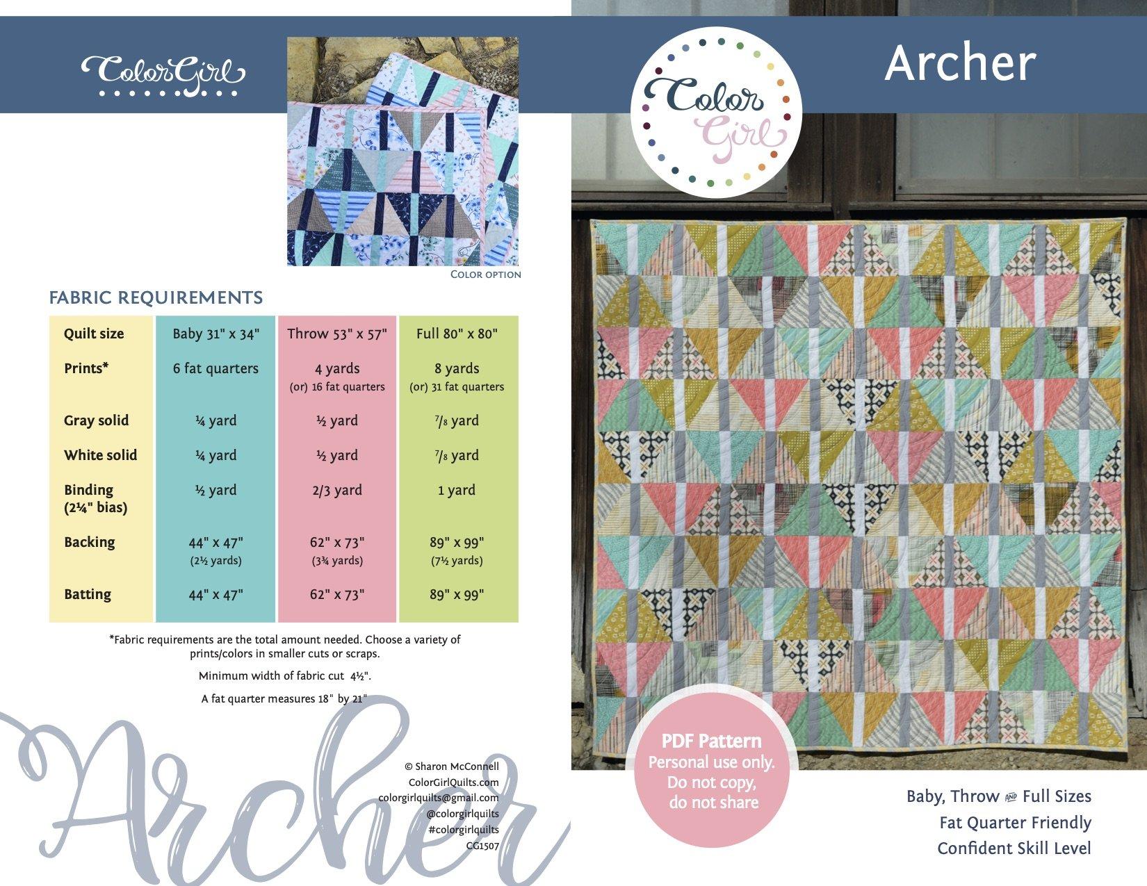 Archer Quilt Pattern