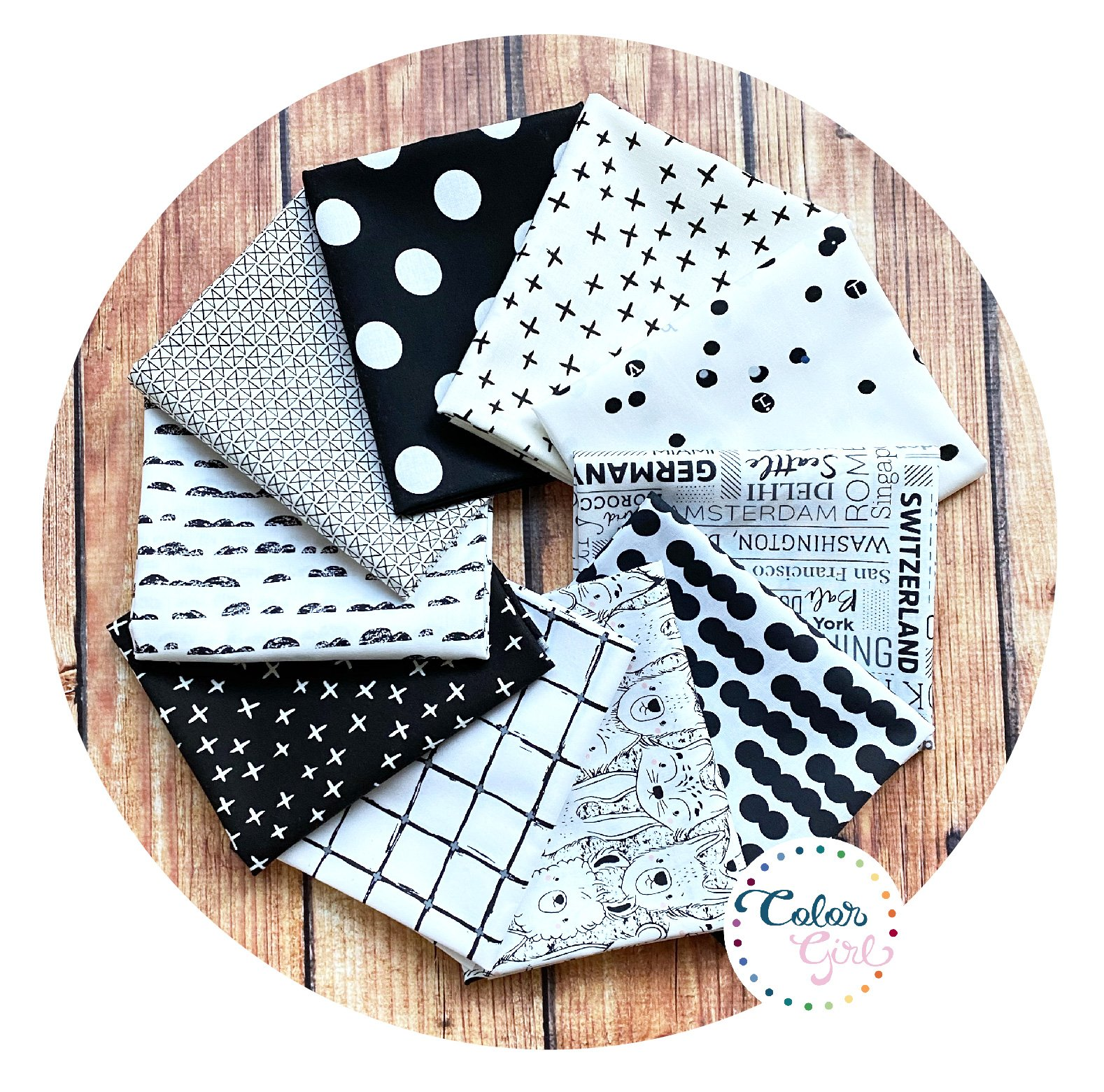Sew Colorful Black and White Bundle