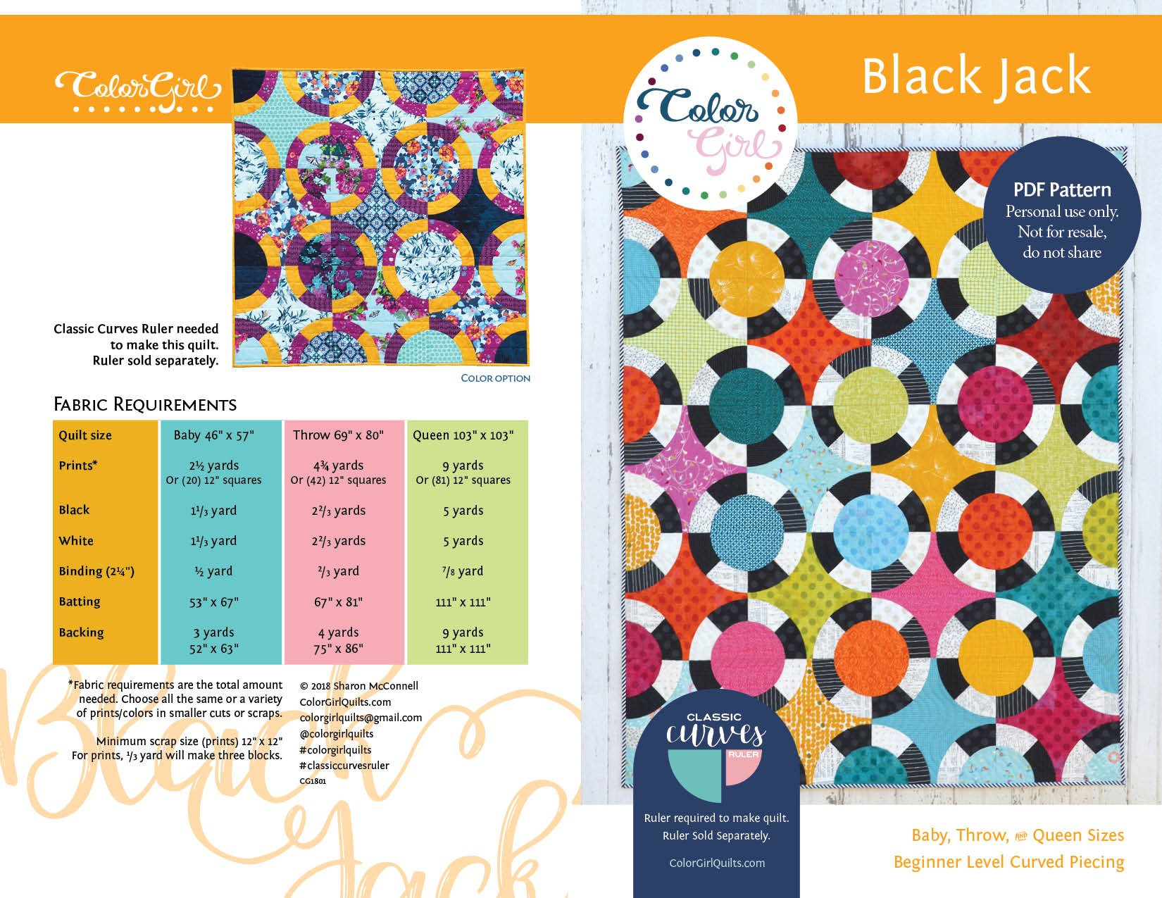 Black Jack Quilt Pattern