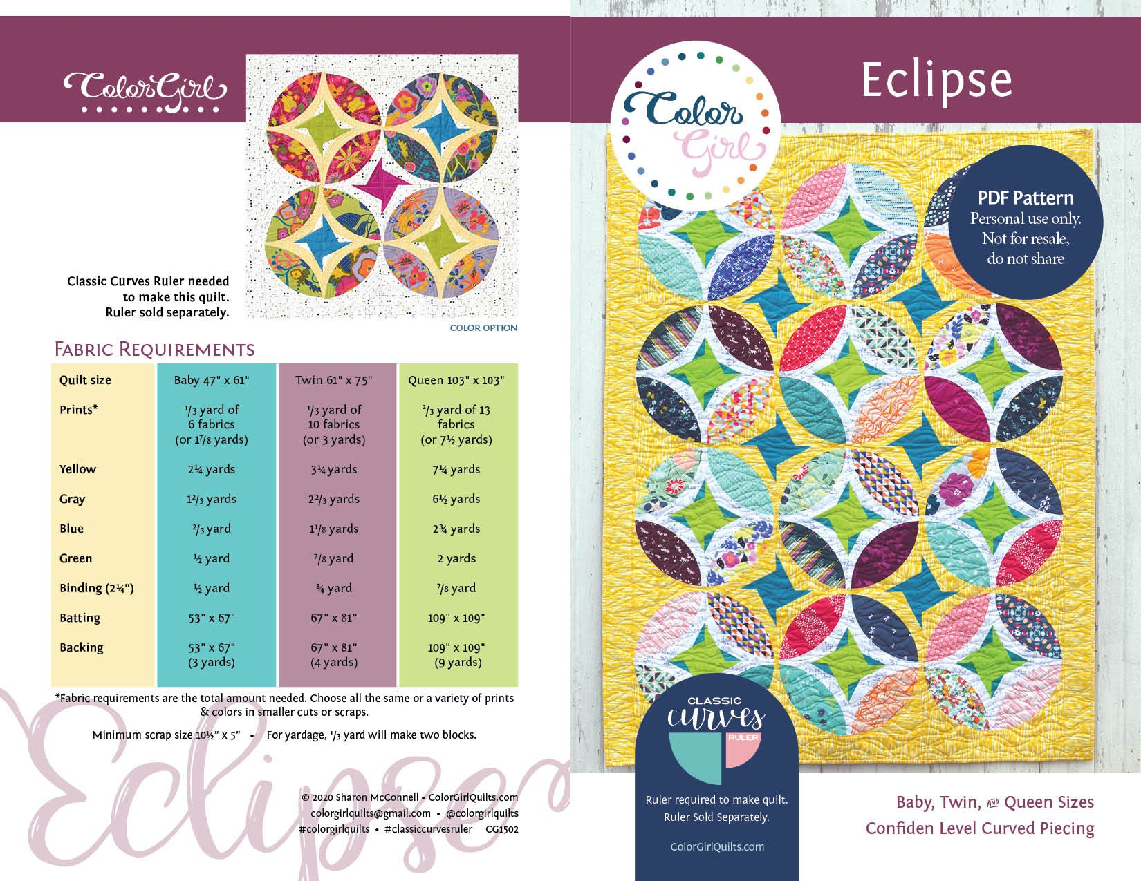 Eclipse Quilt Kit -Yellow