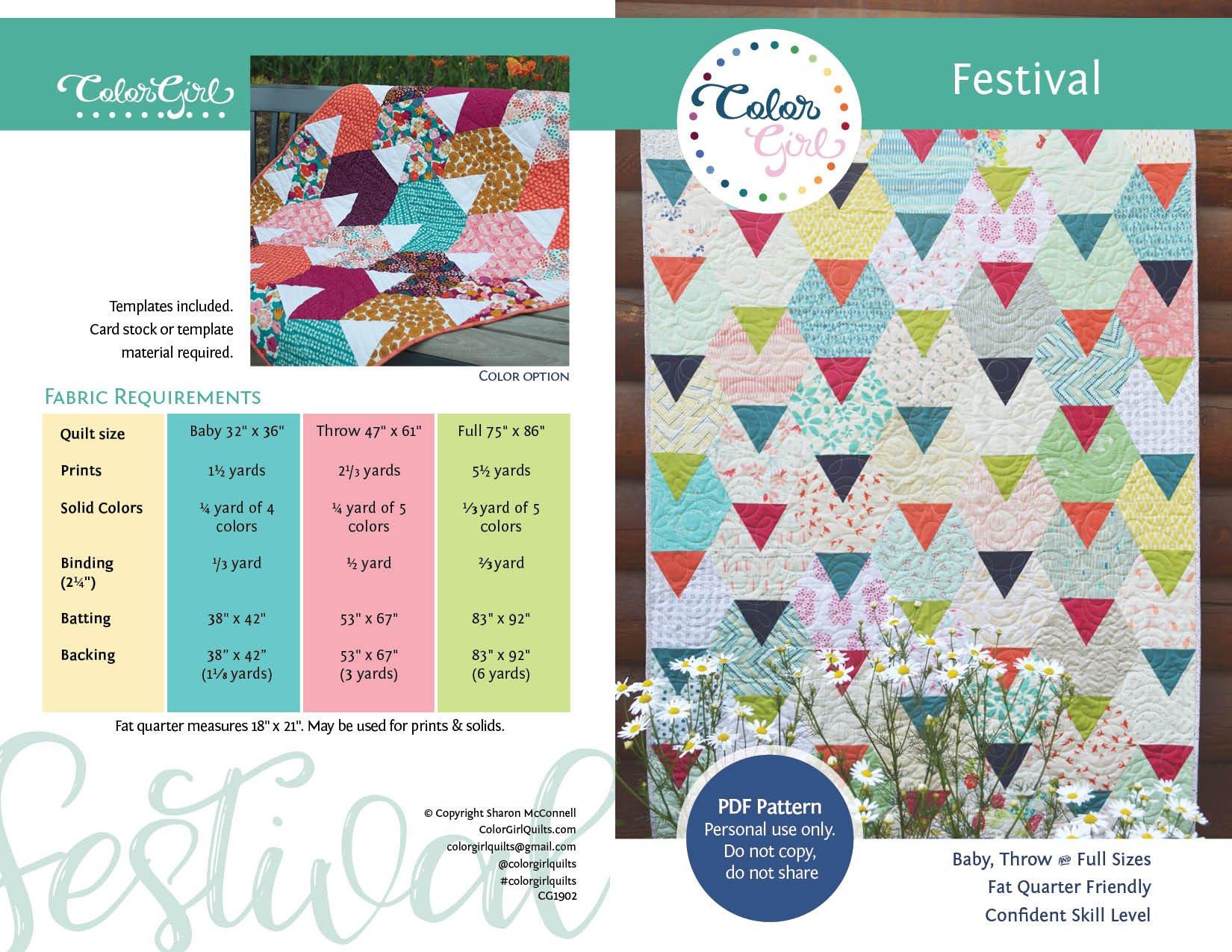 Festival Quilt Pattern
