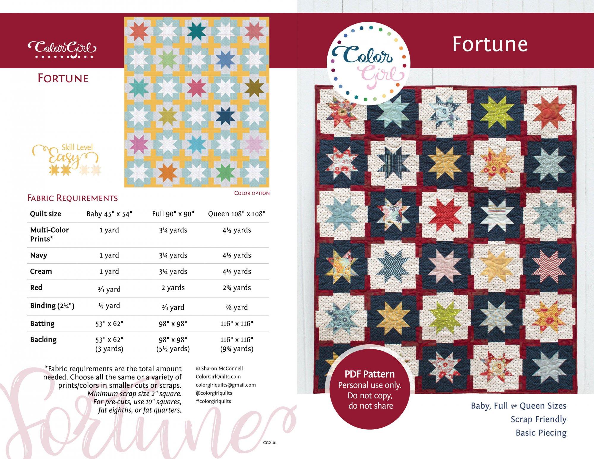 Fortune Quilt Pattern