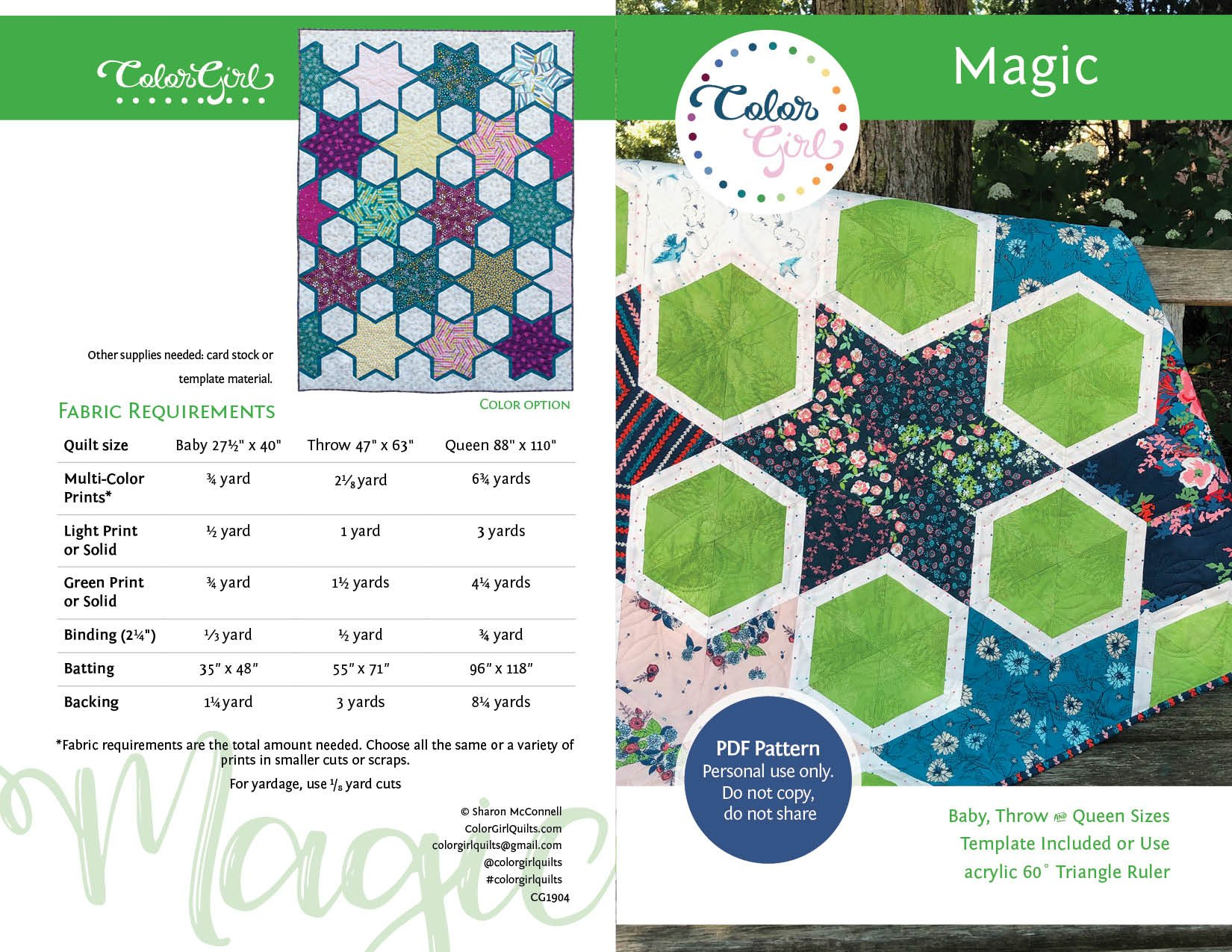 Magic Quilt Pattern