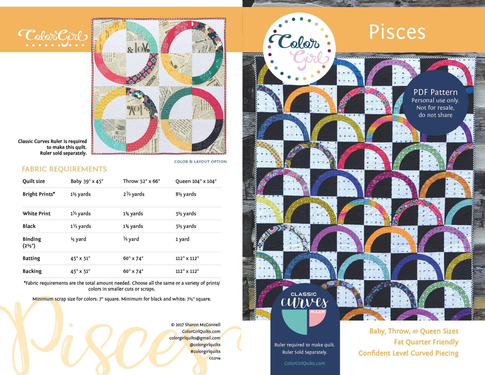Pisces Quilt Pattern