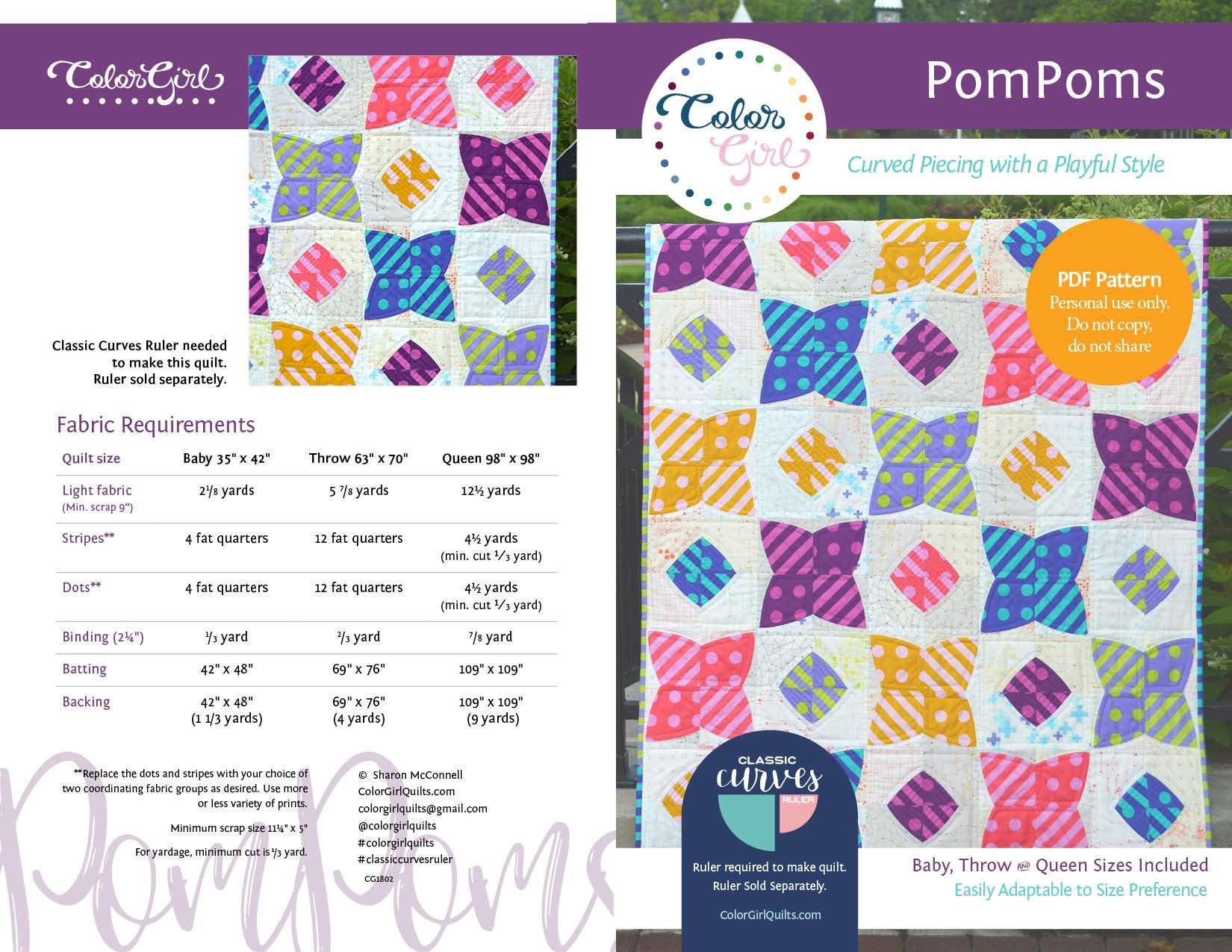 PomPoms Quilt Pattern