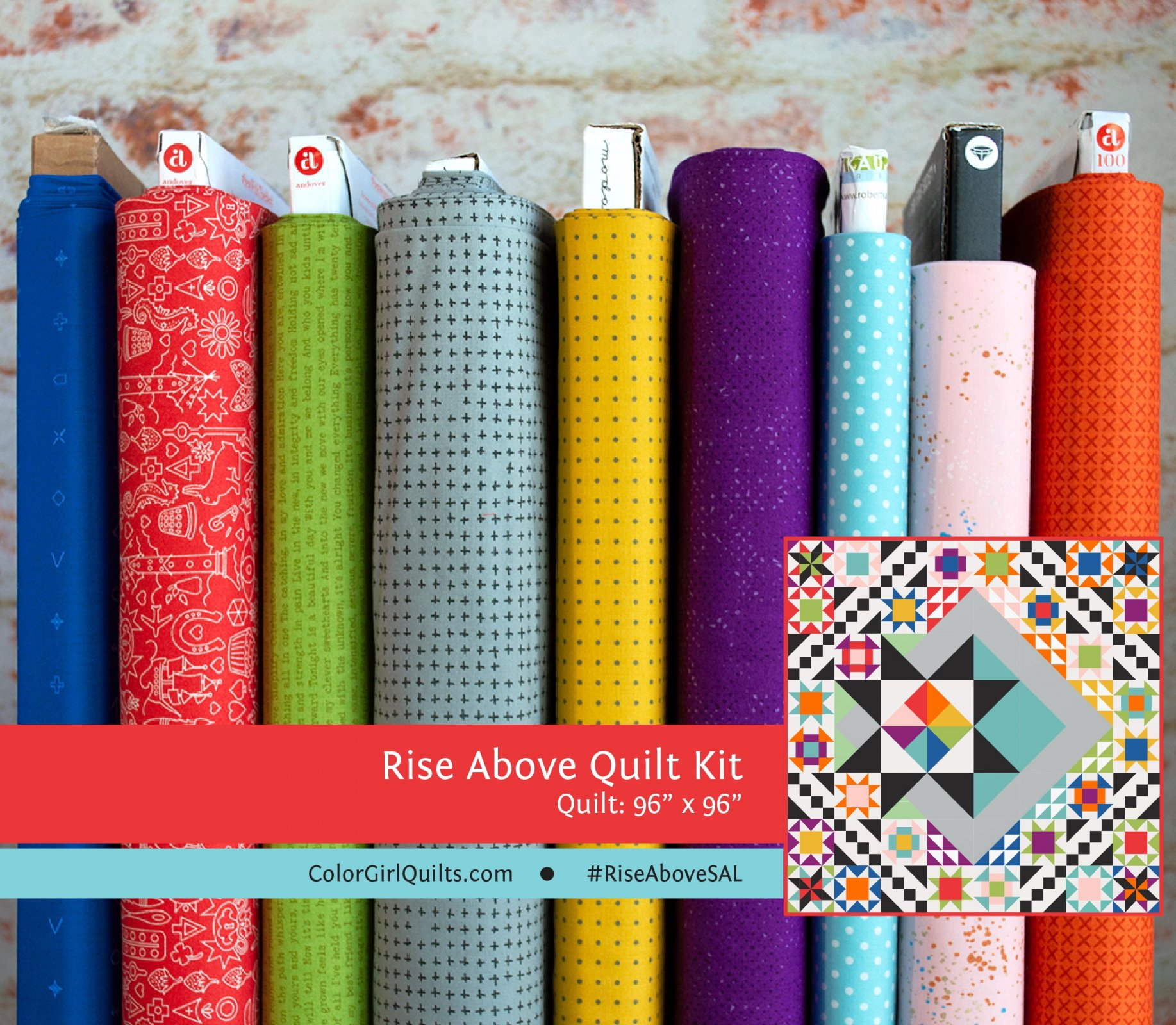 Rise Above Quilt Kit -Primary Colors