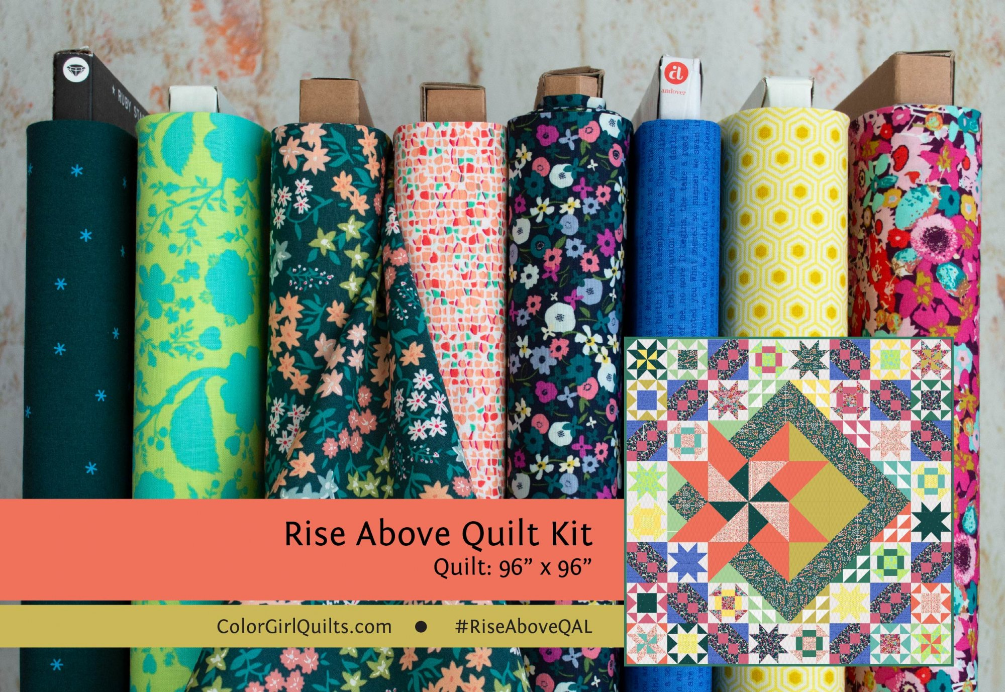 Rise Above Quilt Kit -Color Girl Floral