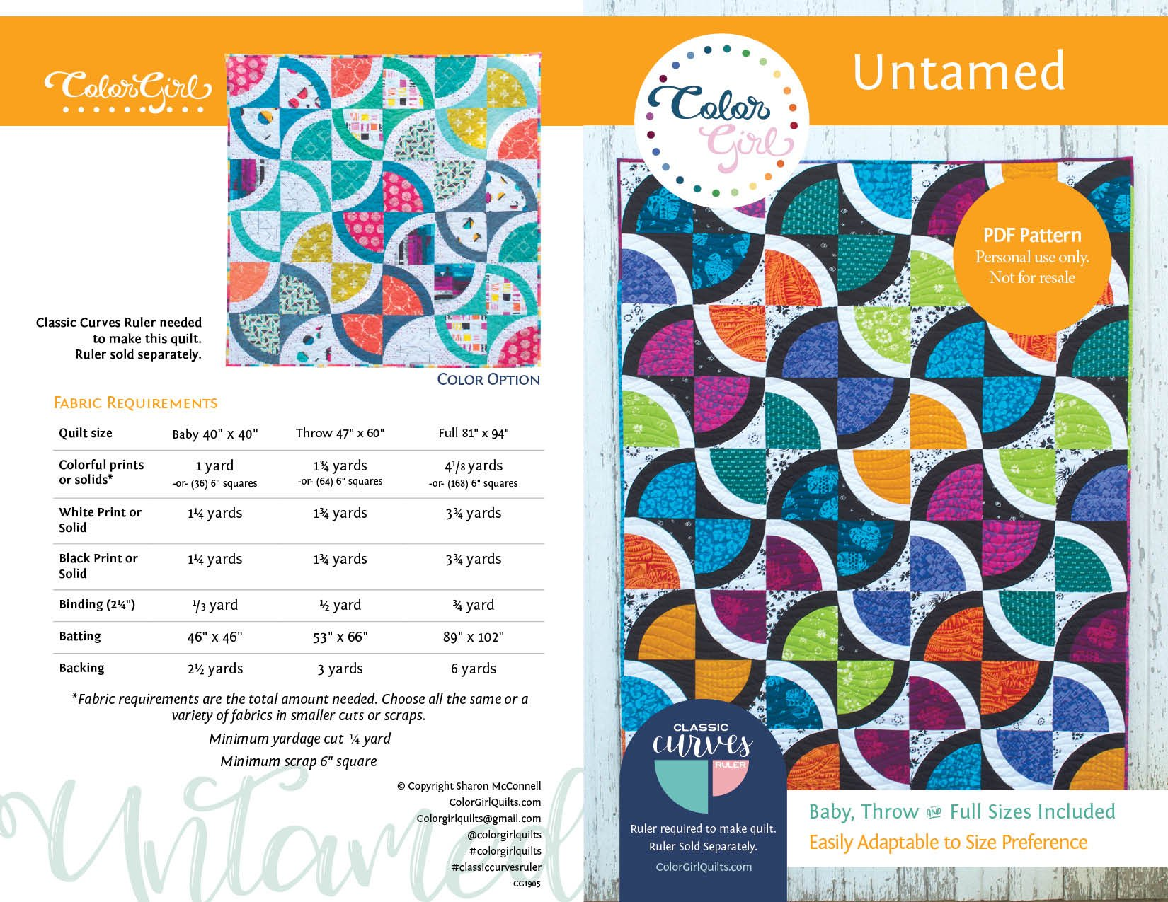 Untamed Quilt Pattern