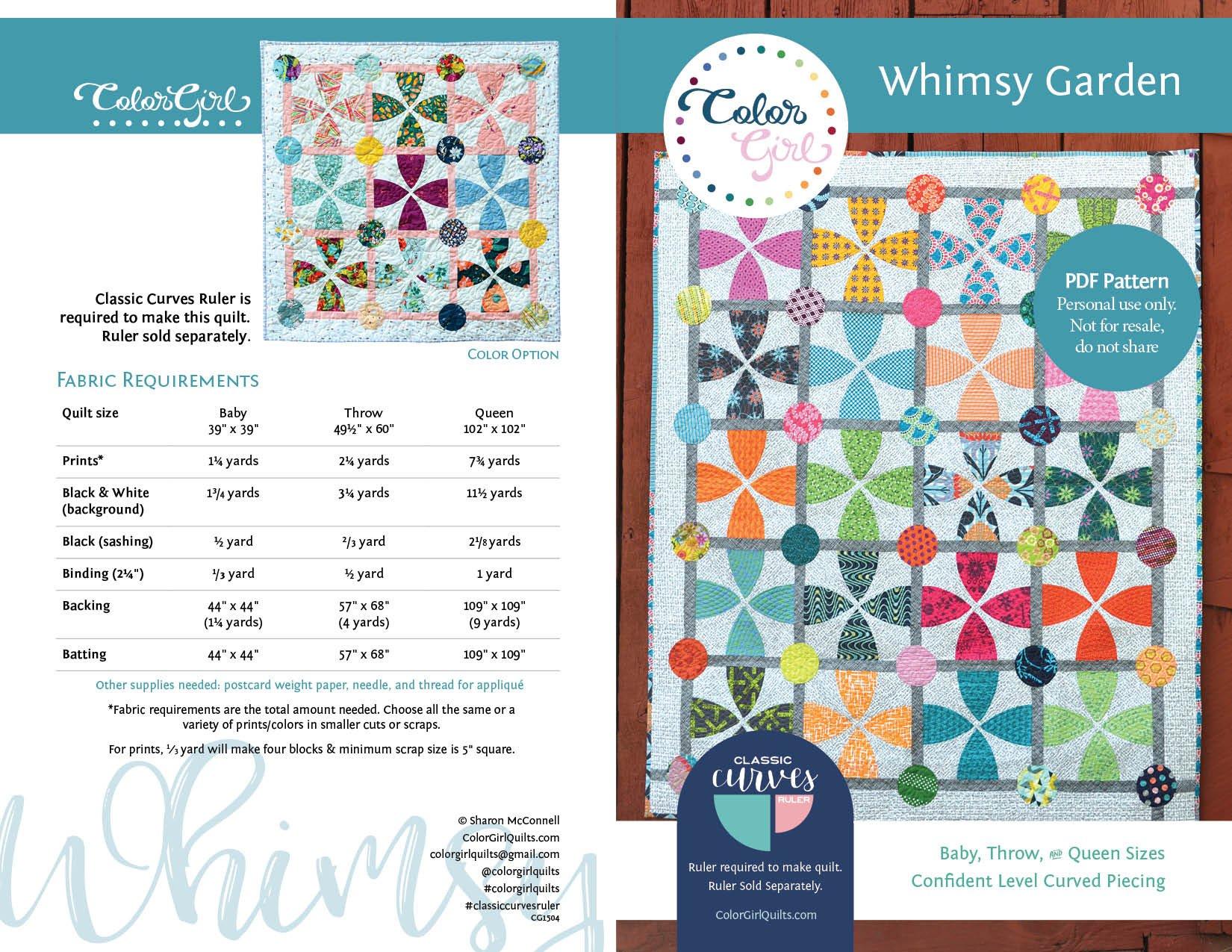 Whimsy Garden Quilt Pattern