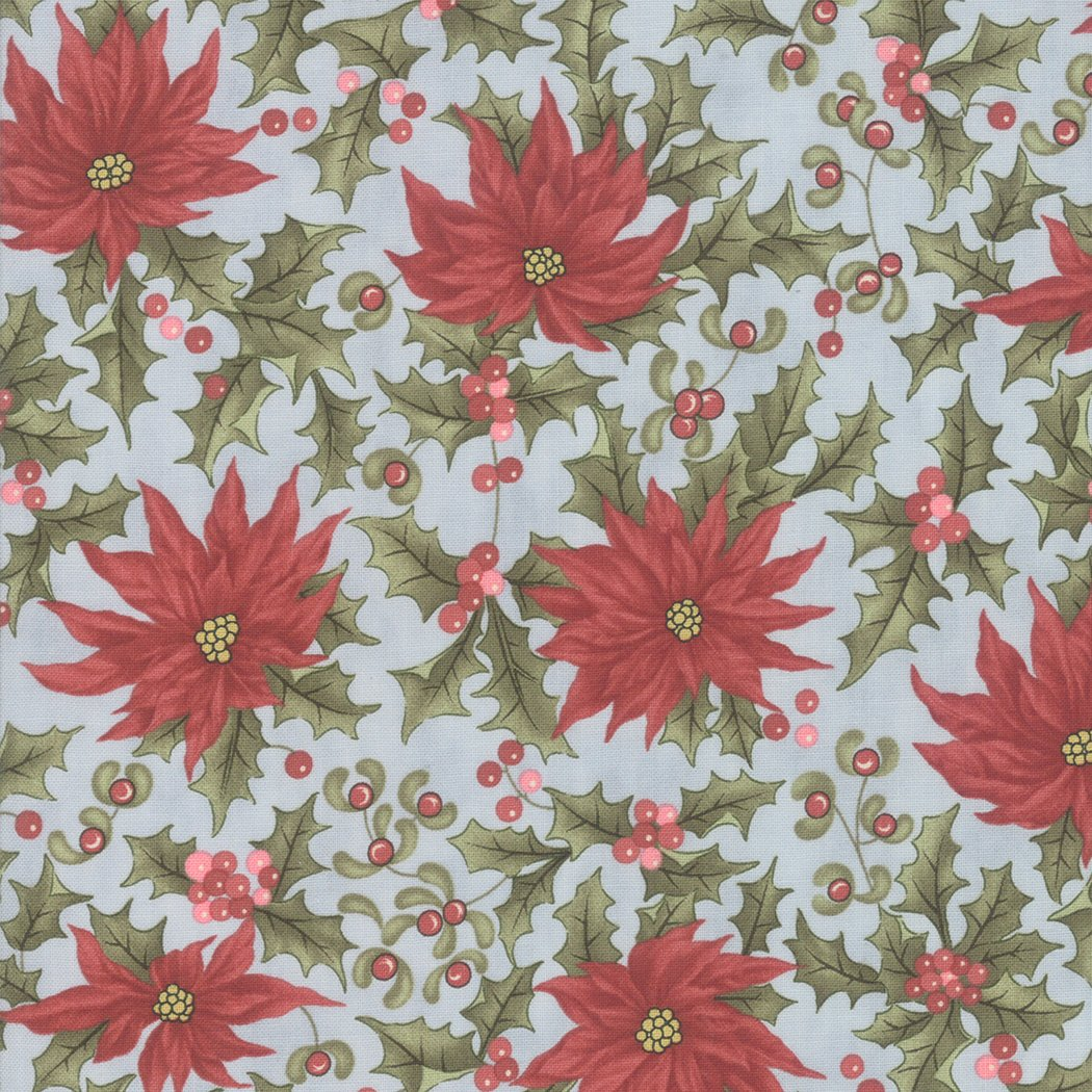 Marches De Noel Poinsettia Frost designed by 3 Sisters for Moda Fabrics 44233-15