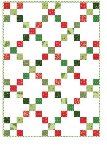 All the Trimmings Irish Chain  Quilt from Maywood Studio Easy Precut Project Christmas Holiday POD-MAS06-ALT
