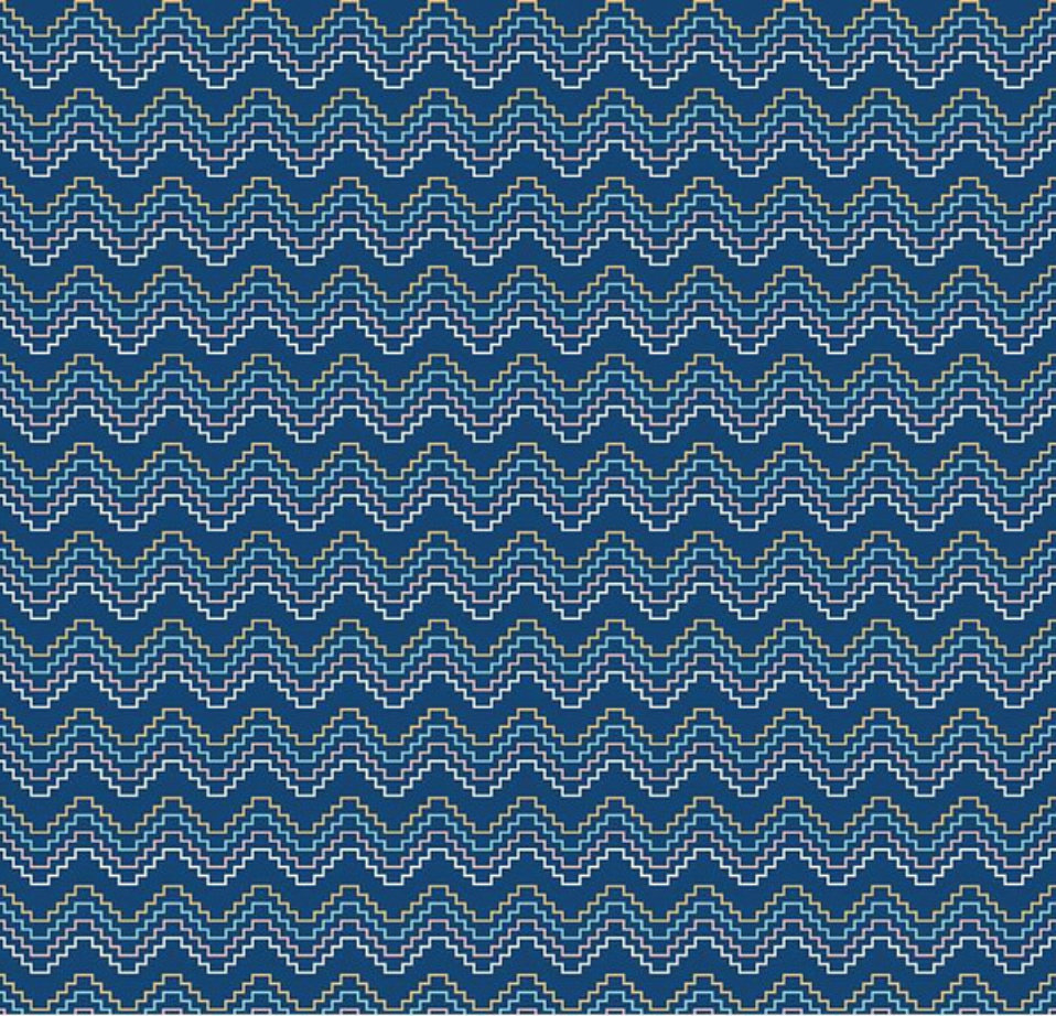 Azure Skies Southwest  Navy designed by Simple Simon and Company for Riley Blade Designs geometric fabric yardage