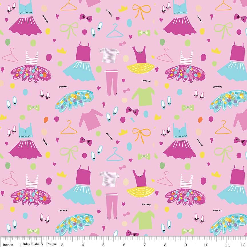 Ballerina Wardrobe Pink C6951 Pink designed by the Riley Blake Designers for Riley Blake