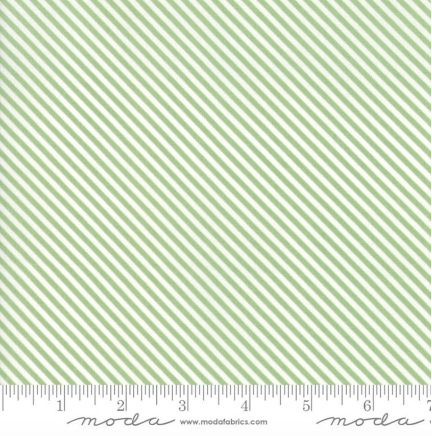 Bloomington Candy Stripe Sage designed by Lella Boutique for Moda Fabrics Geometric metro  5116-16