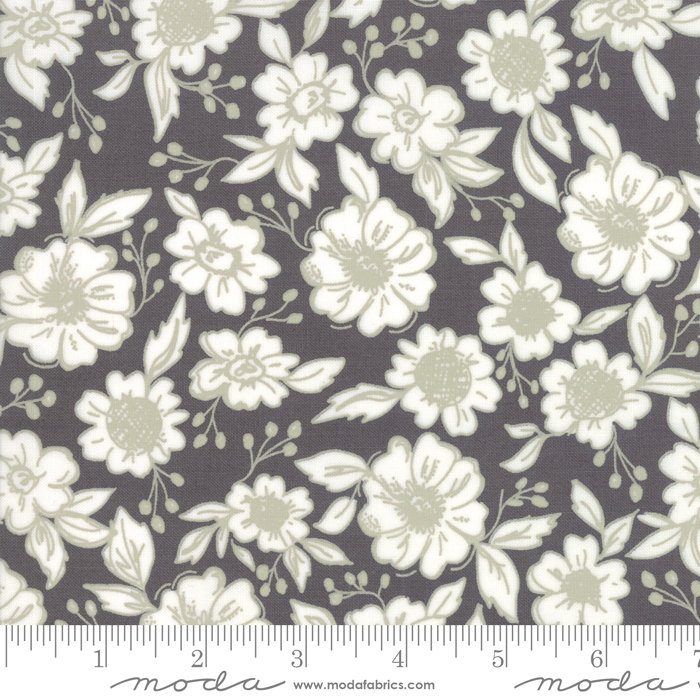 Bloomington Flower Shop Charcoal  designed by Lella Boutique for Moda Fabrics floral metro  5111-13