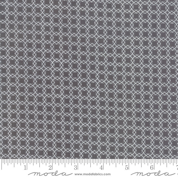 Bloomington Mini Lattice Charcoal designed by Lella Boutique for Moda Fabrics Geometric metro  5115-13 black