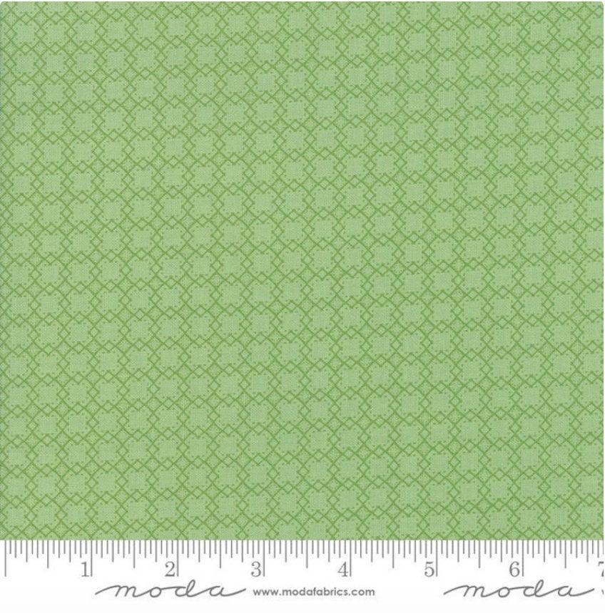 Bloomington Mini Lattice Sage  designed by Lella Boutique for Moda Fabrics Geometric  metro  5115-17 green