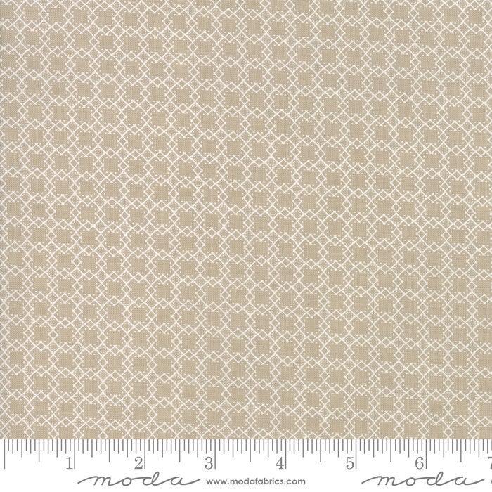 Bloomington Mini Lattice Taupe designed by Lella Boutique for Moda Fabrics Geometric metro  5115-12