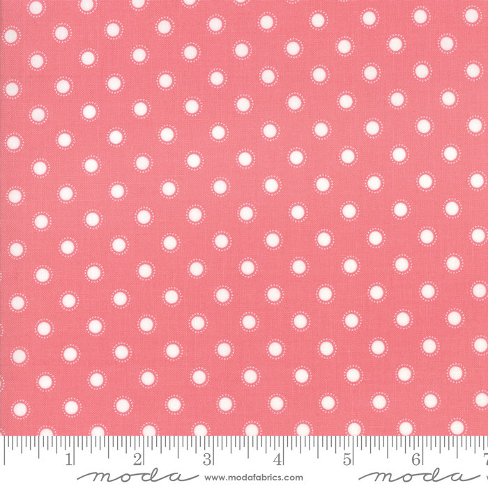 Bloomington Parisian Dot Rose designed by Lella Boutique for Moda Fabrics floral metro  5114-14