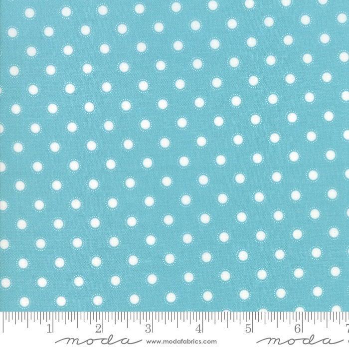 Bloomington Parisian Dot Teal designed by Lella Boutique for Moda Fabrics Dots metro  5114-16