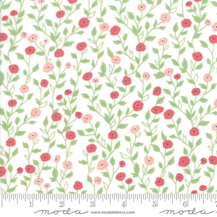 Bloomington Pocket Full of Posies Eggshell designed by Lella Boutique for Moda Fabrics floral metro  5112-11