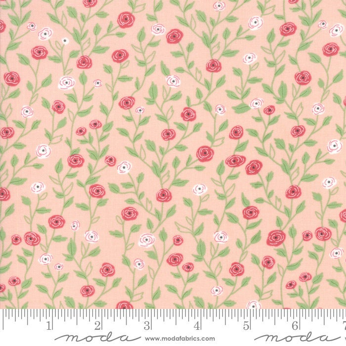 Bloomington Pocket Full of Posies Posie Pink designed by Lella Boutique for Moda Fabrics floral metro  5112-15