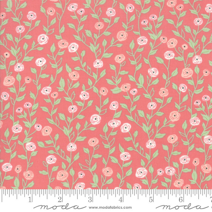 Bloomington Pocket Full of Posies Rose from the Bloomington collection designed by Lella Boutique for Moda Fabrics floral metro  5112-14