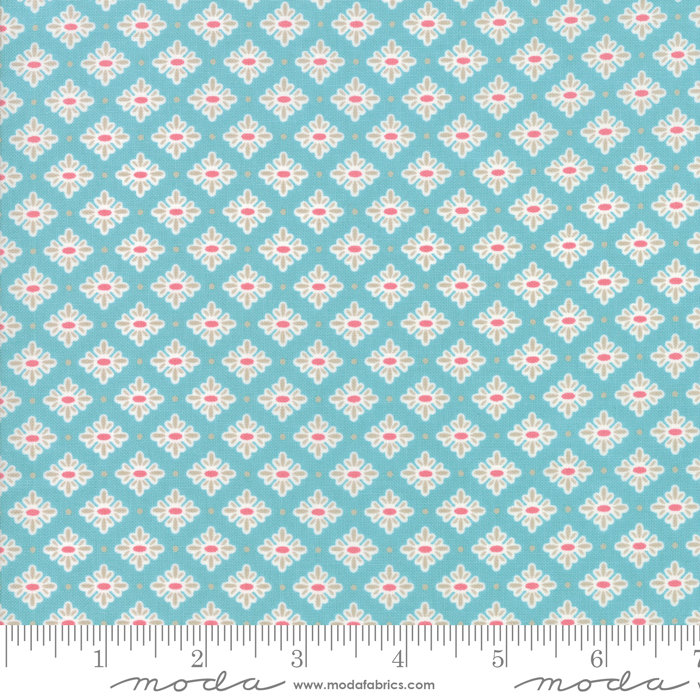 Bloomington Teatime Teal  designed by Lella Boutique for Moda Fabrics floral metro  5113-16