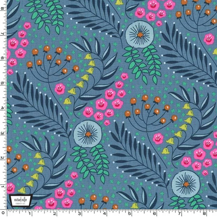 Botanika  from Flower Shop fabric collection designed by Patty Sloniger for Michael Miller Fabrics yardage DC7823-PERI-D