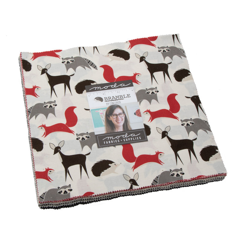 Bramble Layer Cake  by Gingiber from Moda - Woodland Fabric - Includes 42 Prints 10 squares