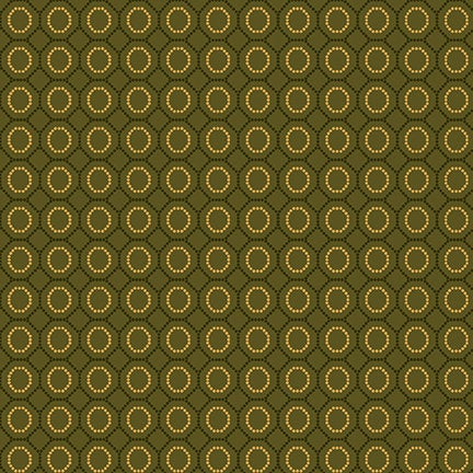 Dotted Hexies from the Sage and Sea Glass Fabric Collection designed by Kim Diehl for Henry Glass Fabrics HEG1544-66 deep green